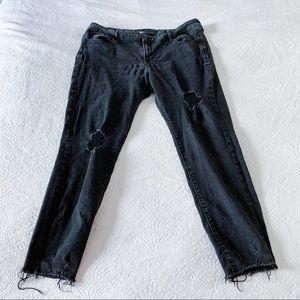 Old Navy Rockstar Distressed Black Jeans